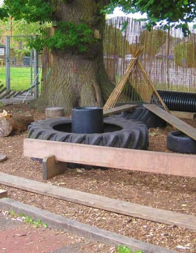 Oakwood Community Pre-school | Gallery | outdoor play area under the tree