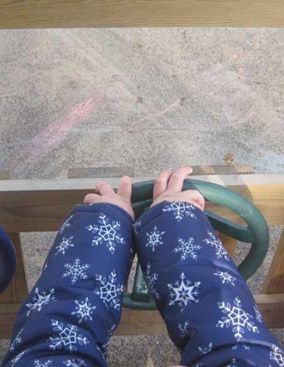 Oakwood Community Pre-school | Gallery | Children's hand steering wheel on outdoor vehicle