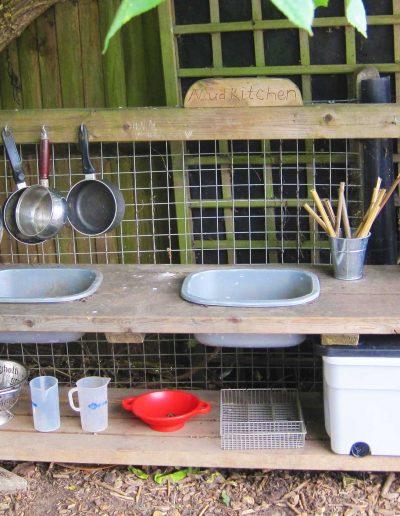Oakwood Community Pre-school | Mud Kitchen Hero image